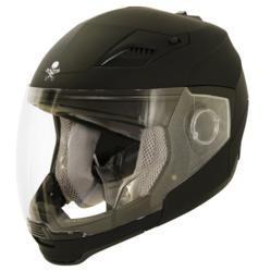 Xelement Evolution 2-IN-1 Flat Black Helmet
